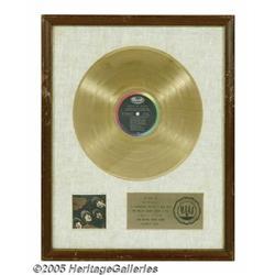 "Beatles ""Rubber Soul"" Gold Sales Award. The plaqu"