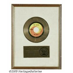 "Beatles ""Hello Goodbye"" Gold Record Award. Matte-"