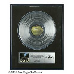 Beatles Abbey Road Platinum Record. The last Beat