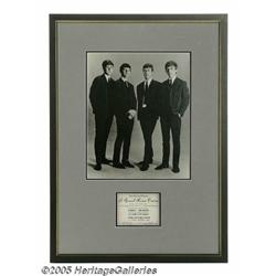 Beatles Ensemble Photo and Ticket Ad. Here's an i