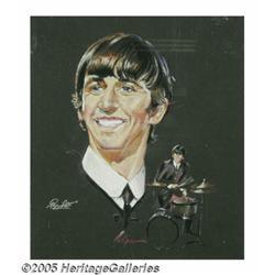 Beatles Set of Four Volpe Portraits. Four rare an