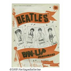 """Beatles Pin-up Posters Group of Four. Four 1964 """""""