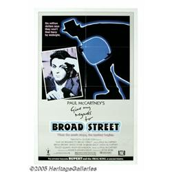 Paul McCartney Autographed Poster. Featured in th