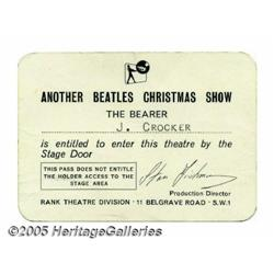 Beatles Christmas Show Pass (1964). After the suc