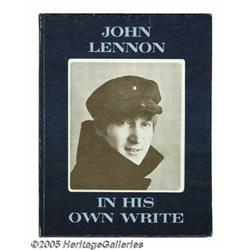 John Lennon Signed Book. A copy of John Lennon's
