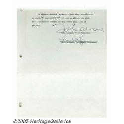 John Lennon Signed Document. Offered is a two-pag