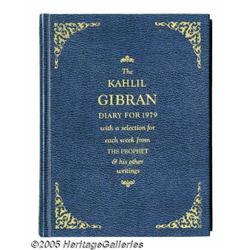 John Lennon Signed Book. A Kahlil Gibran diary fo