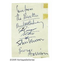 "Set of ""Beatles"" Signatures Done by Paul McCartne"