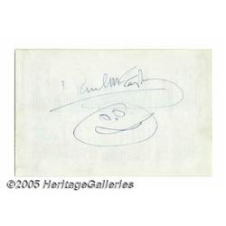 Paul McCartney Autograph With Doodle. McCartney s