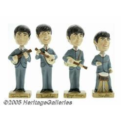 Bobb'n Head Beatles Toys with Box. Four vintage 1