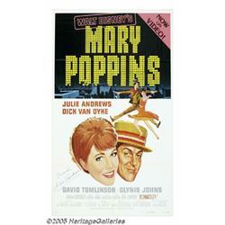 Julie Andrews Signed Poster. Disney's pioneering