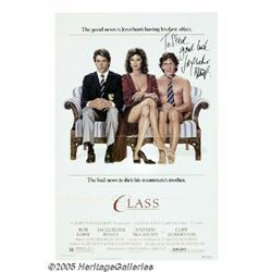 Jacqueline Bissett Signed Poster. For the 1983 co
