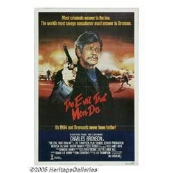 Charles Bronson Autographed Poster. A poster for