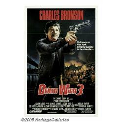 Charles Bronson Signed Poster. Veteran tough-guy