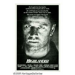 """Clancy Brown Signed """"Highlander"""" Poster. It didn'"""