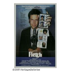 """Chevy Chase Signed """"Fletch"""" Poster (1985). Of all"""