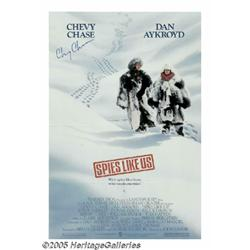 """Chevy Chase Autographed Poster. """"Saturday Night L"""