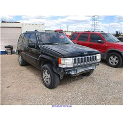 1994 - JEEP GRAND CHEROKEE//SALVAGE TITLE