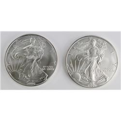 ROLL OF 20 2008 AMERICAN SILVER EAGLES