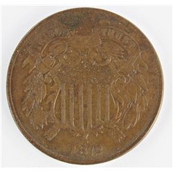 1872 TWO CENT PIECE