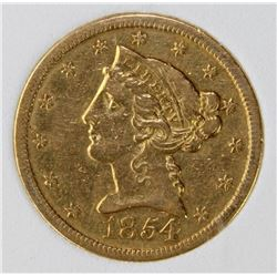 1854-0 - $5 GOLD