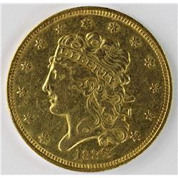 1836 $5.00 GOLD