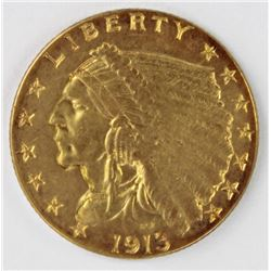 1913 $2.50 INDIAN GOLD
