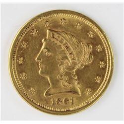 1861 $2.50 LIBERTY
