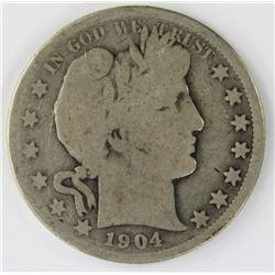 1904-S BARBER HALF DOLLAR