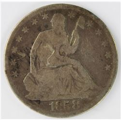 1858-O SEATED HALF DOLLAR
