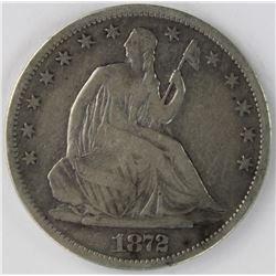 1872-S SEATED HALF DOLLAR