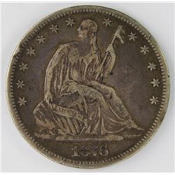 1876-CC SEATED HALF DOLLAR