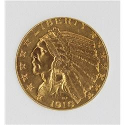 1910 $5 GOLD INDIAN