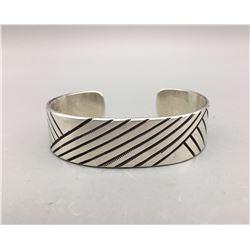 Sterling Silver Navajo Bracelet - Yazzie