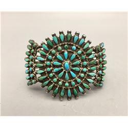 Mid Century Turquoise Cluster Bracelet