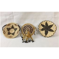 Group of Basketry Hair Accessories