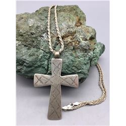 Antique, 1800s, Sterling Silver Cross Pendant