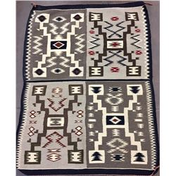 Unique Four Panel Navajo Textile