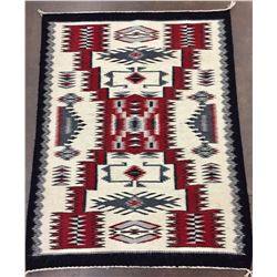 Storm Pattern Handwoven Navajo Textile