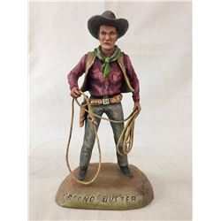 Dee Flagg Wood Carving - Bronco Buster
