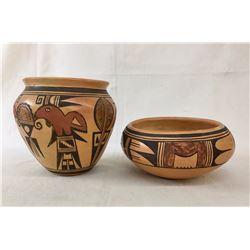 2 Mid-Century Hopi Pots