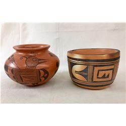 2 Vintage Hopi Pots