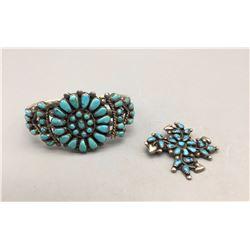 Vintage Bracelet and Pin