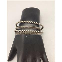 Group of Vintage Sterling Silver Bracelets