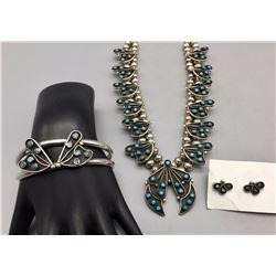 Vintage Necklace, Bracelet and Earring Set