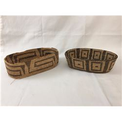 2 Vintage Pima Baskets