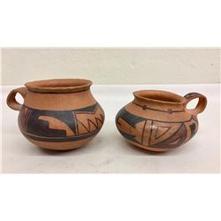 Two Chakoptewa Pottery Cups