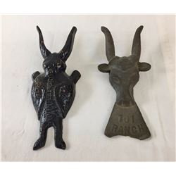 Pair of Vintage Cast Iron Boot Jacks