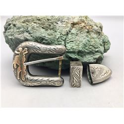 Vintage Don Ricardo Belt Buckle Set