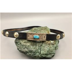 Hat Band with Turquoise Buckle